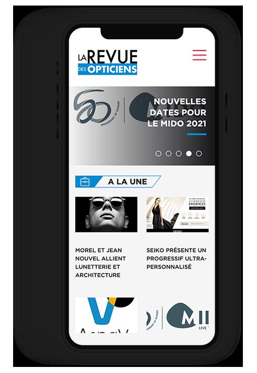 Site internet responsive LA REVUE DES OPTICIENS