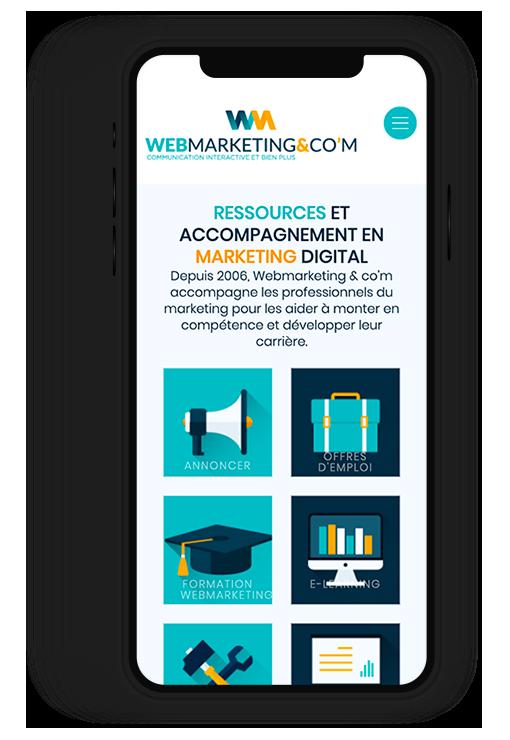 Site internet responsive WEBMARKETING & CO'M, communication interactive et bien plus