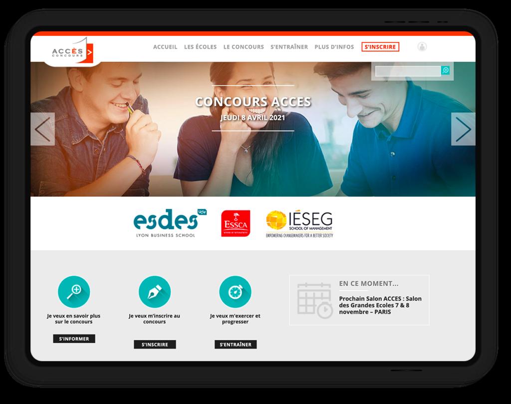site web CONCOURS Accès, concours commun écoles de commerce