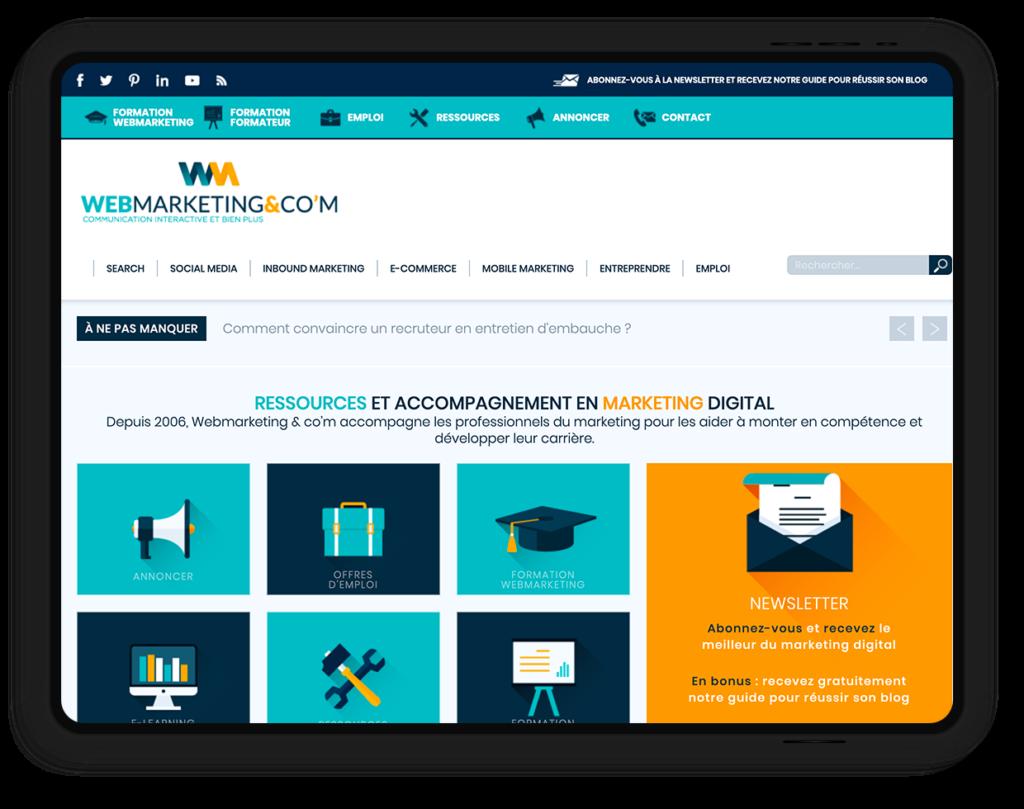 site web WEBMARKETING & CO'M, communication interactive et bien plus