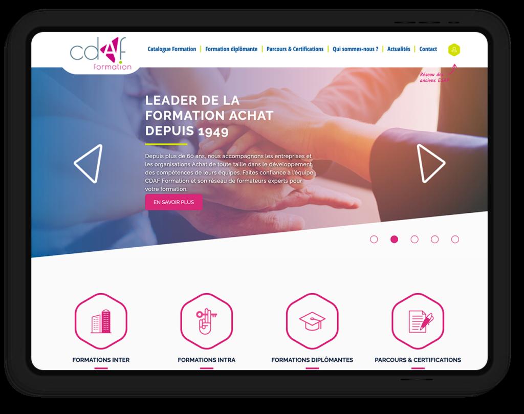 site web CDAF Formation, leader en formation achat depuis 1949