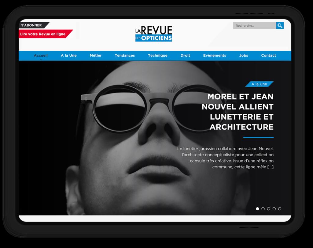 site web LA REVUE DES OPTICIENS