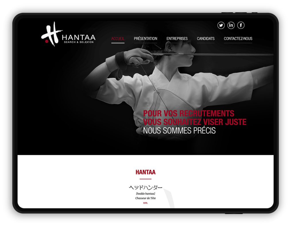 site web HANTAA, Search & Selexion (chasseur de têtes)