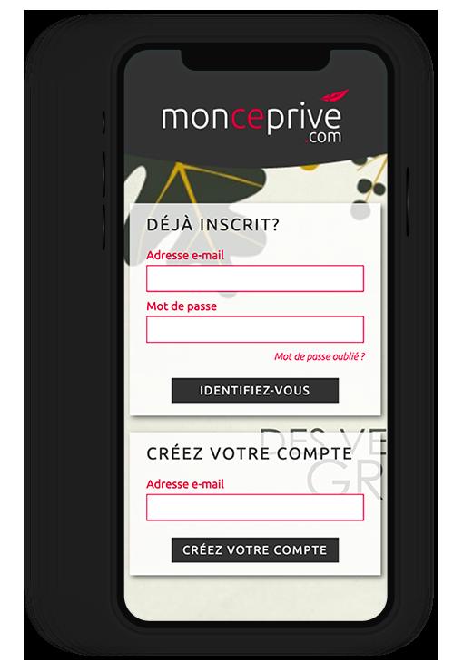 Site internet responsive Mon CE Privé.com, vente à distance pour comités d'entreprise