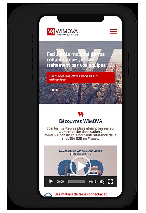 Site internet responsive WIMOVA, la mobilité sur-mesure
