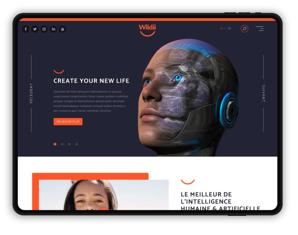 site web WIIDII, create your new life ! (assistant personnel)