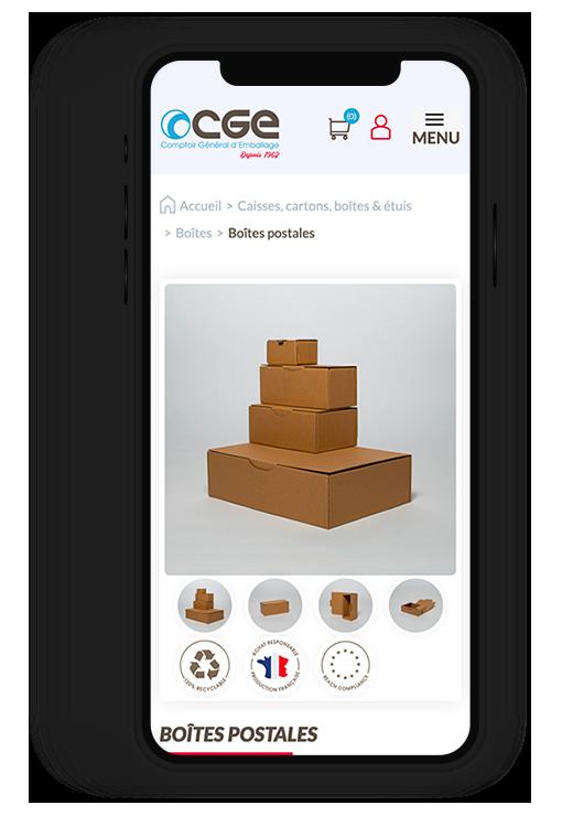 Site internet responsive CGE, Comptoir Général d'Emballage depuis 1962